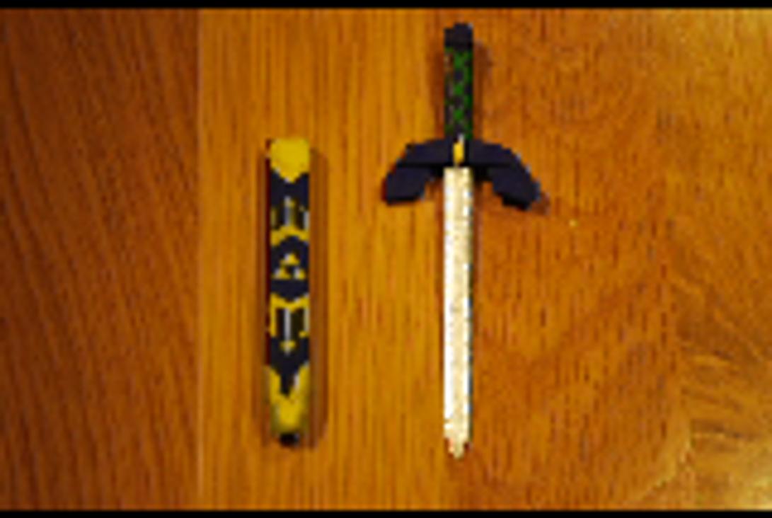 popsicle stick crafts   master sword by ninshroom on