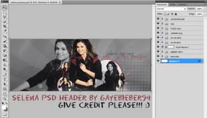 SELENA PSD HEADER by GayeBieber94