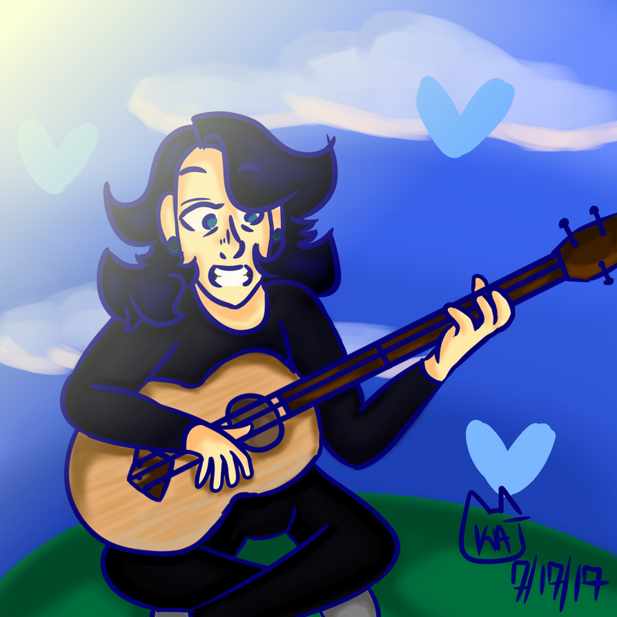 Steven playing guitar by kawaiikatzlolz