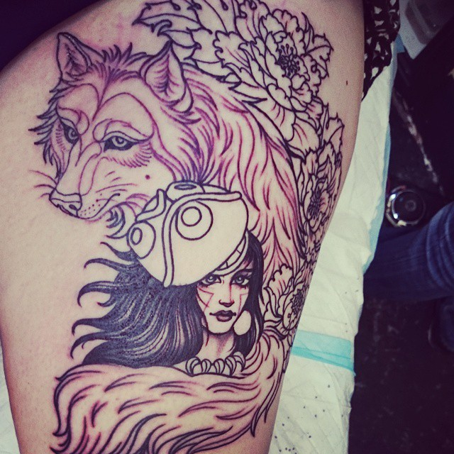 Princess Mononoke Tattoo by AtaliaLight on DeviantArt