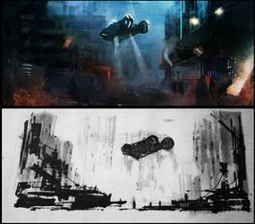 Blade Runner Fan Art Copy by AlexanderBrox0101