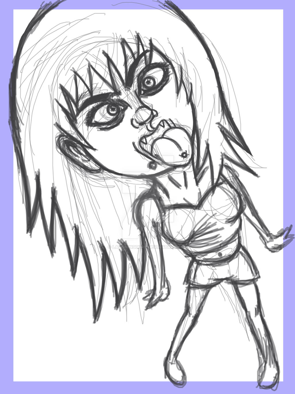 Mari Crazy Face Sketch by LaughingGurl on DeviantArt