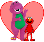 We Love Barney and Elmo with their Friendship