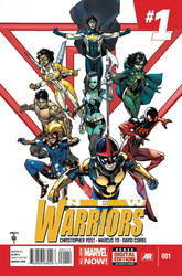 New Warriors volume  5  Issue # 1 cover.