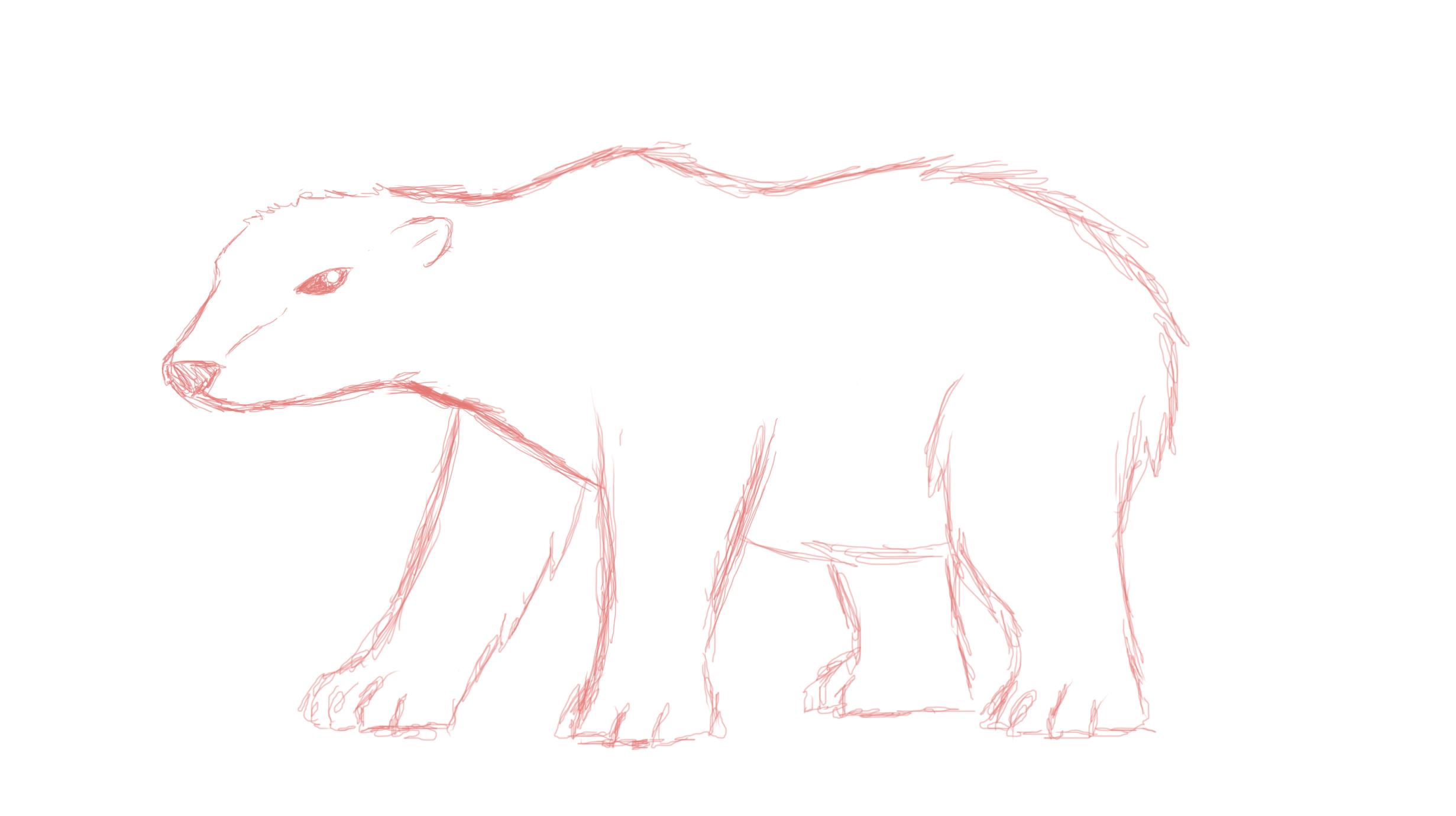polar bear sketch 2 by fatherbrouny on deviantart