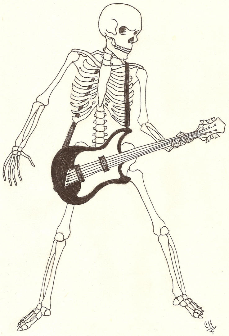 Skeleton With Guitar By Angelfish1021 On Deviantart