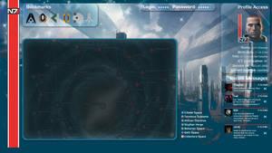 Mass Effect - Shepard`s Desktop 1920*1080
