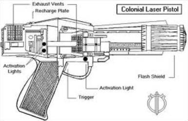 Laser Pistol Schematics (not mine)