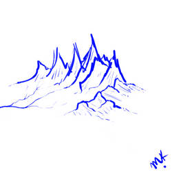 7-13-2017 Mountain Sketch by valhaia