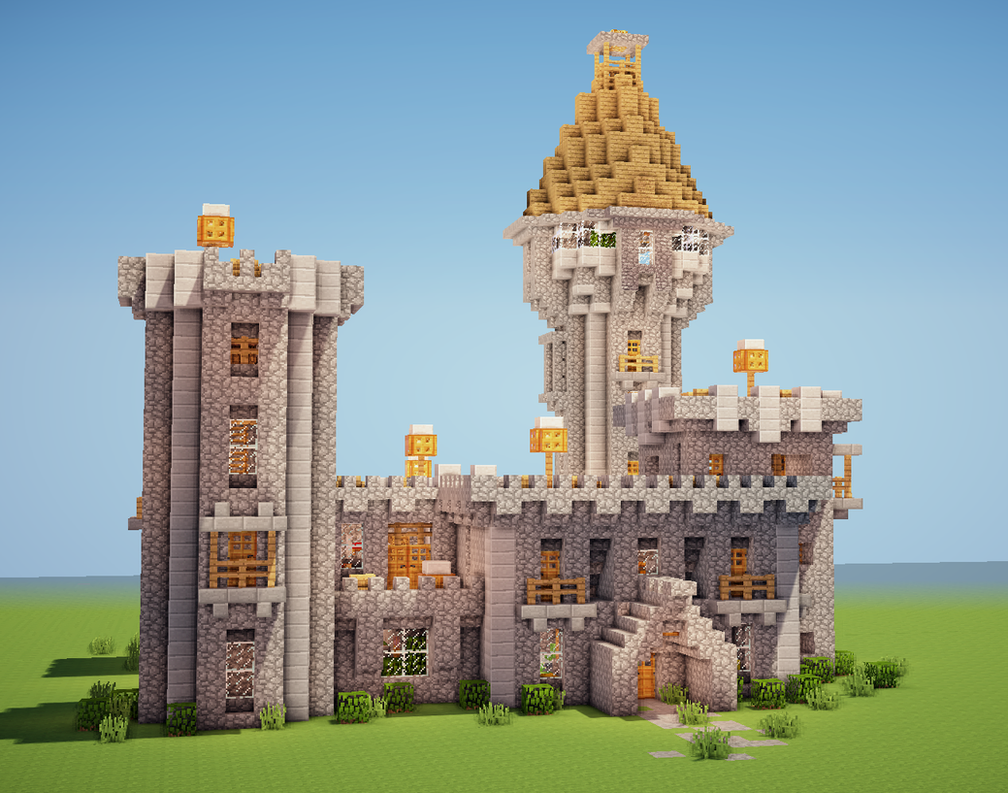 Minecraft Castle By Trinapple On Deviantart