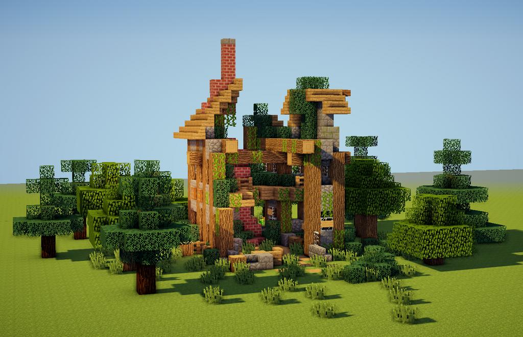 Mini Temple Build Minecraft