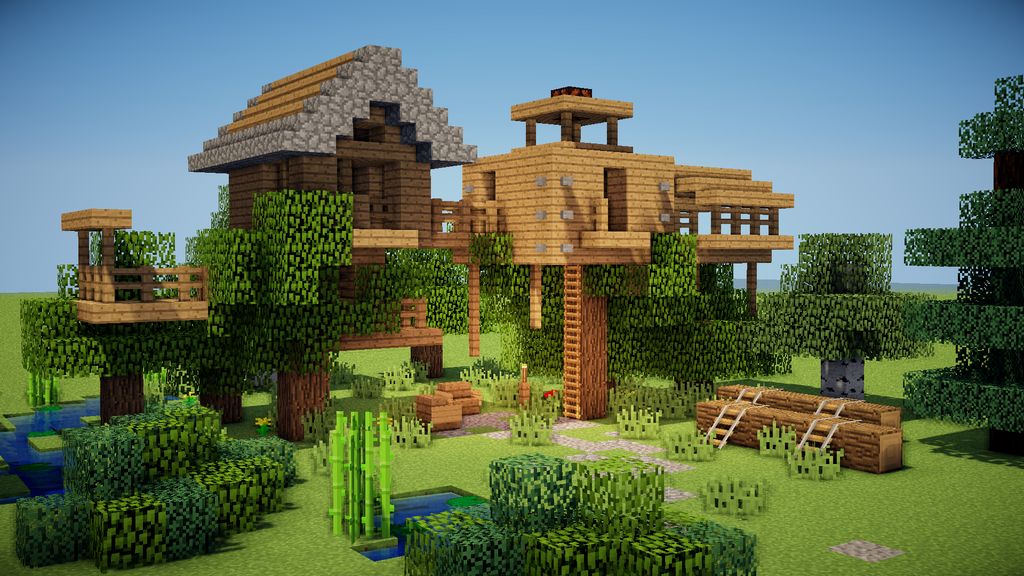 Minecraft treehouse by trinapple on deviantart for Easy homes to build
