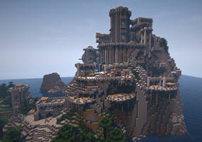 Minecraft Terraced Castle by Trinapple