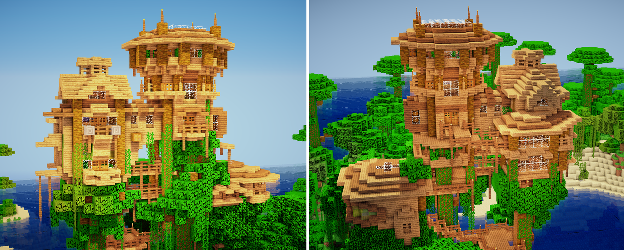 how to make a small treehouse minecraft