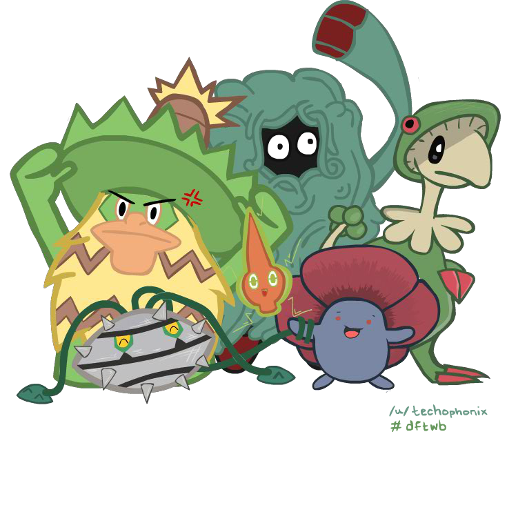 6/6 Grass Pokemon Team by Technophonix