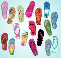 Flip Flop Summer Collab by vexelove
