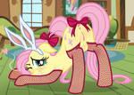 MLP NSFW Fluttershy stockings bunny by FluttershyFanN80085