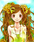 Dziewzyna i kwiaty