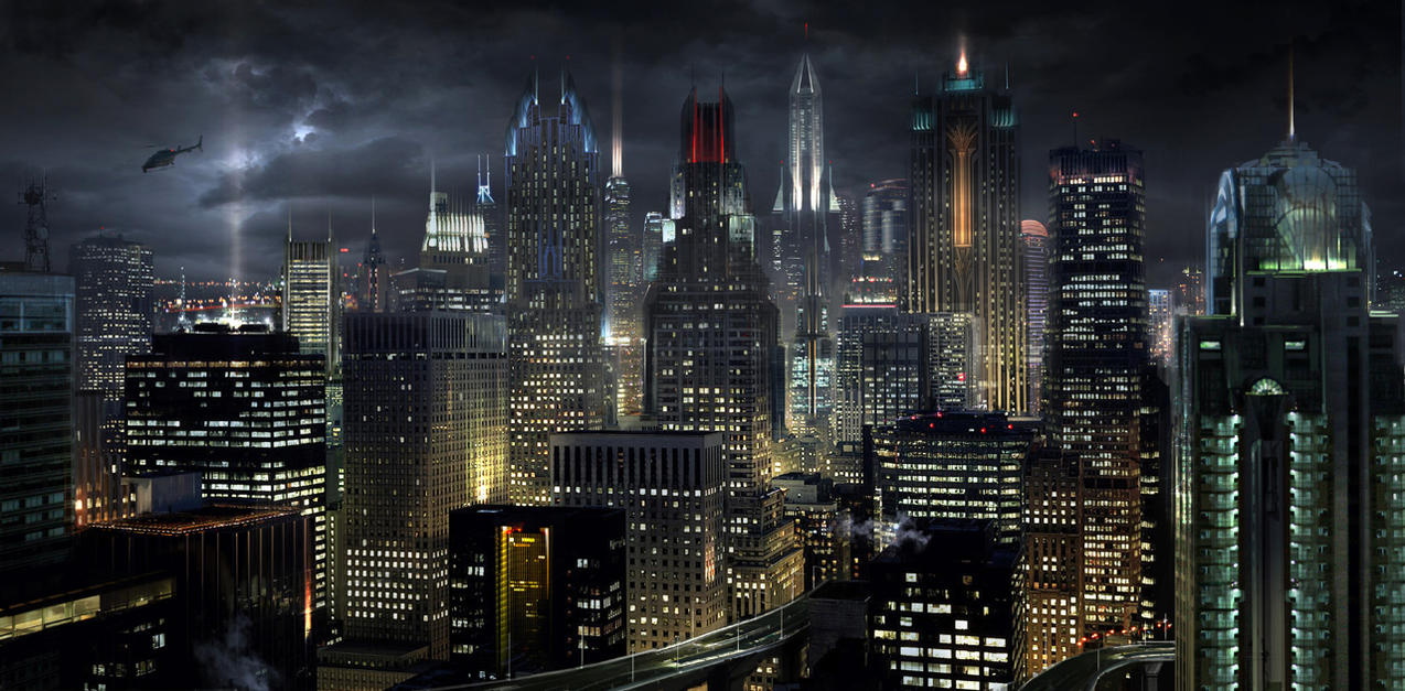 Gotham City Skyline Wallpaper Gotham City Skyline