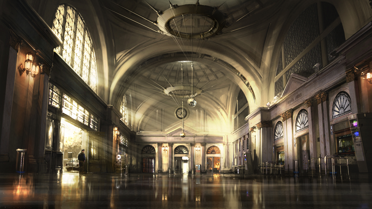 Foyer Art Concept : Station foyer by atomhawk on deviantart