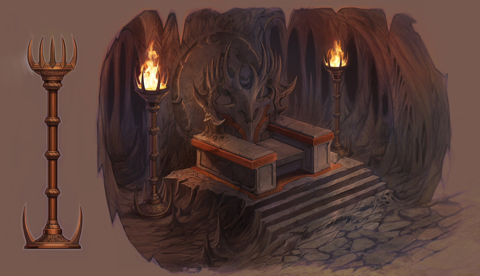 Goro's Throne Detail by atomhawk