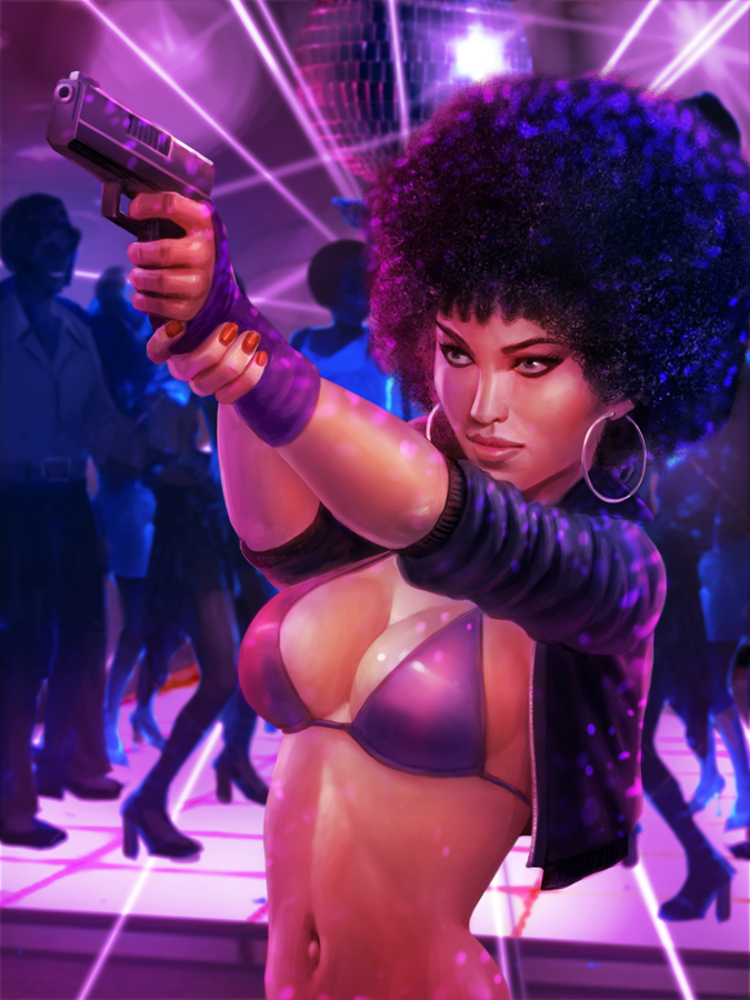 Gang Domination - 70's Afro Girl by atomhawk