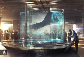 Guardians of the Galaxy- NovaCorps Hologram table by atomhawk