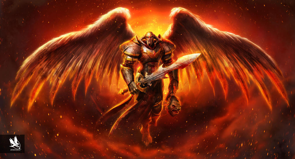 Angel Knight Hell Variant By Atomhawk On Deviantart