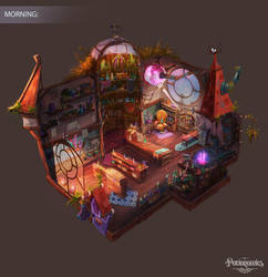 Voracious Games Potionomics Potion Shop Morning by atomhawk