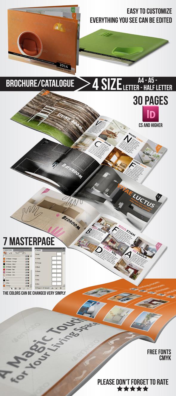 Multi Purpose Interior Design Brochure Catalogue By Toasyworld On