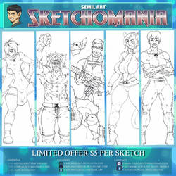 SKETCHOMANIA COMMISSIONS OPEN