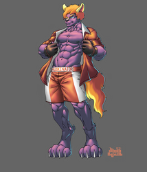 Commission Complete: Sly Huskinator McFadden
