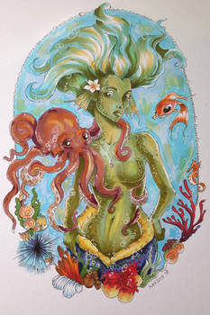 The mermaid and her octopus