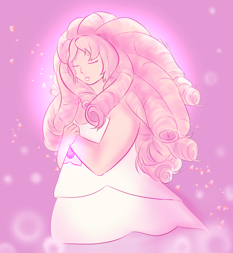Messy doodle of the lovely Rose quartz from SU. (The first episode completely sucks in my opinion but damn I'm hooked on the series.) I actually did this a while ago but then fell into a mini art f...