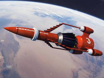 Thunderbird 3 On final Approach by Paul-Lloyd