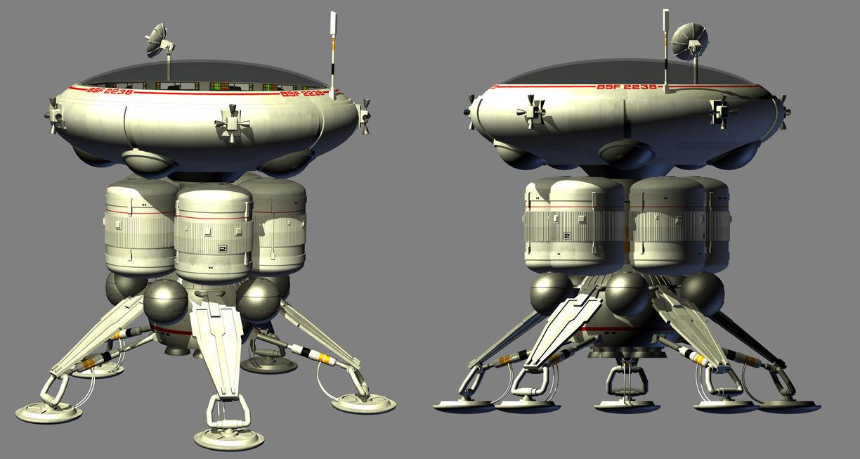 Stubby domed 70s sci-fi lander (WIP) by Paul-Lloyd on ...