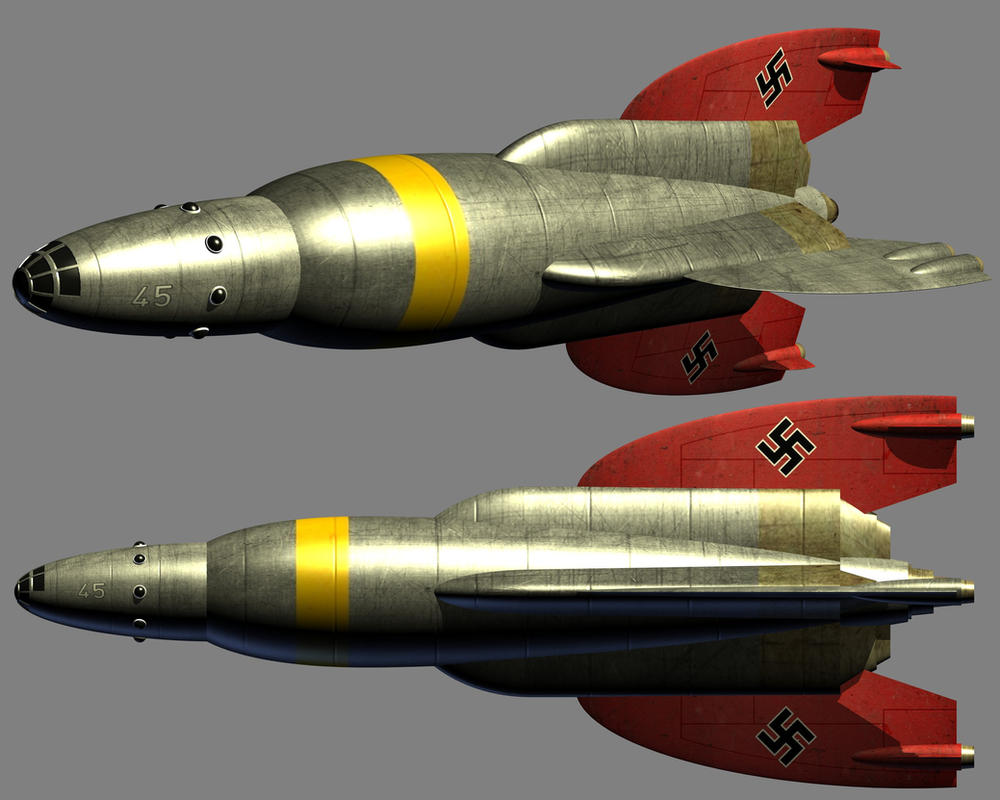 Fanciful Nazi rocketship (WIP) by Paul-Lloyd