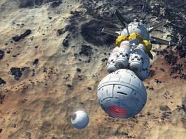 Lander Returning To Mothership by Paul-Lloyd