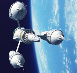 Liberator Orbiting An Earthlike Planet
