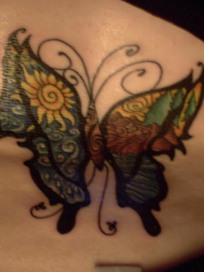 Butterfly Tattoos Color