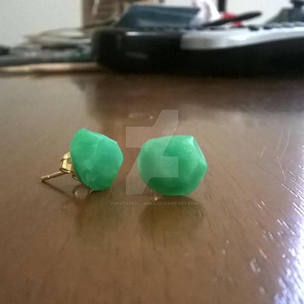 Faux Jade Earrings by Ducktapedllamas
