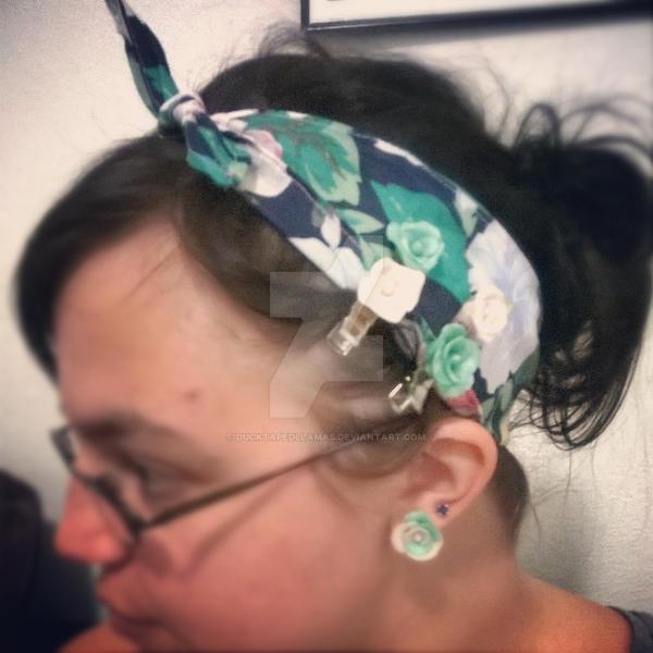 Headband and Hairclips by Ducktapedllamas