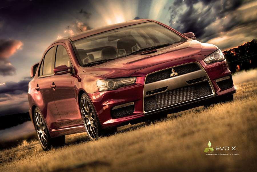 Mitsubishi Evolution X - HDR by featheredpixels