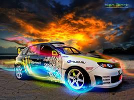 Ken Block's Subaru by featheredpixels