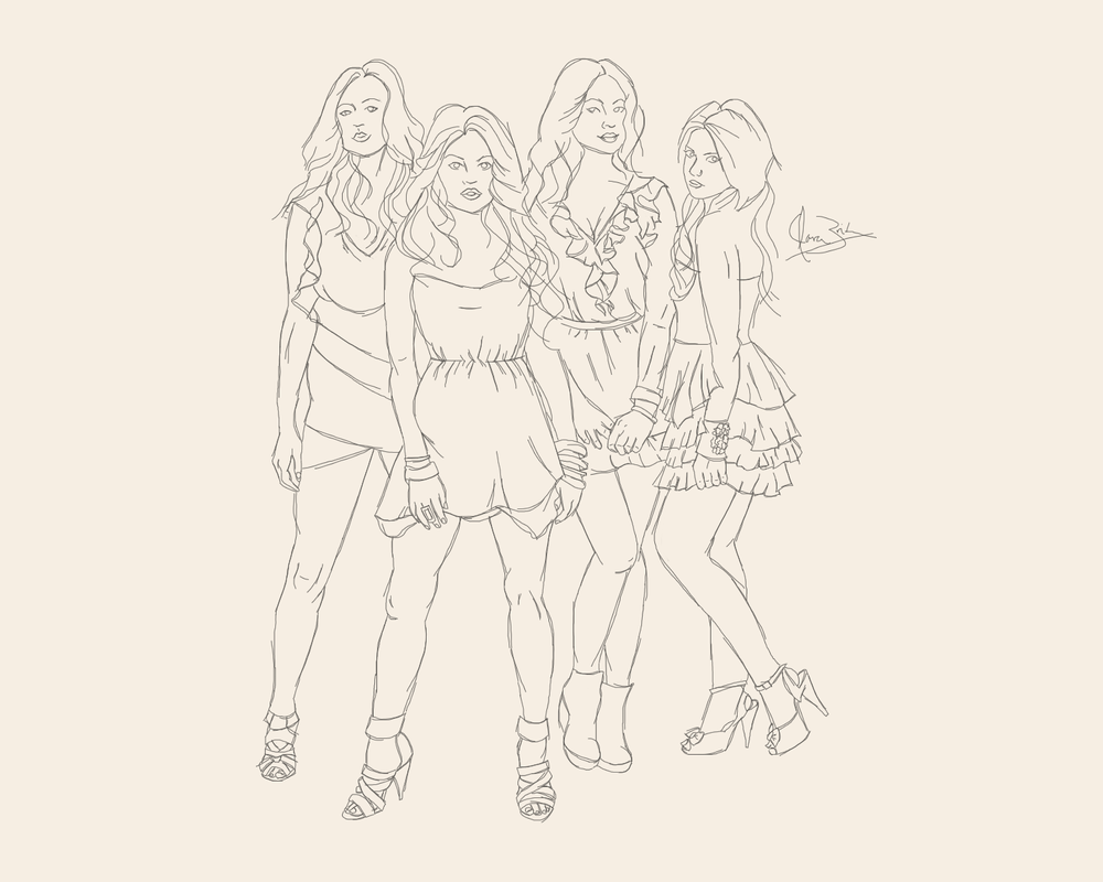 pretty little liars printable coloring pages - work in progress pretty little liars the liars by