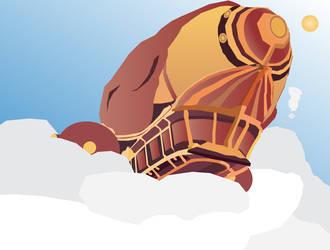 Zeppelin (Adobe Illustrator Practice) by Sir-Kuss