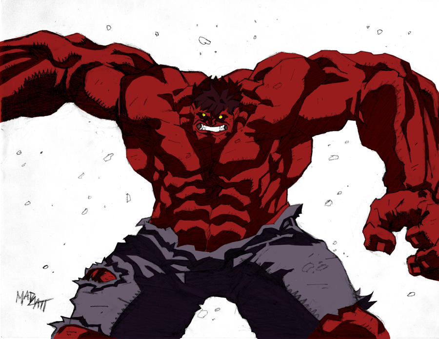 The Red Hulk by madcatt01