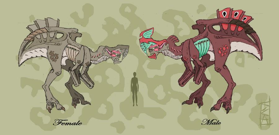 Predatory Creatures F M by Big-Rex