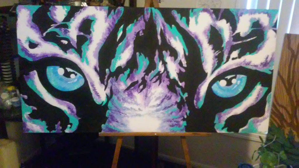 Tiger eyes painting by Big-Rex