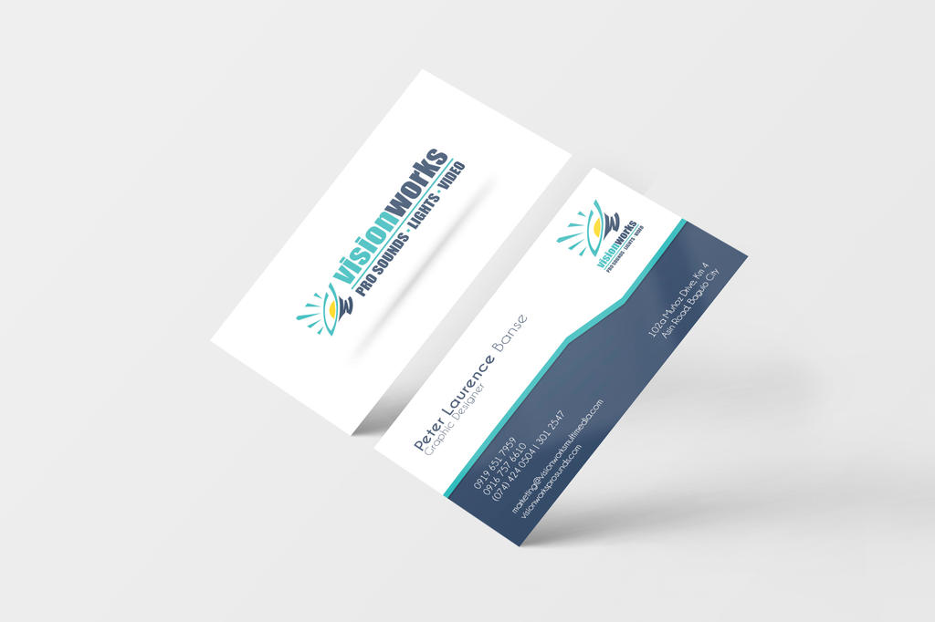 Visionworks Business Card Mockup v01 by peterlaurence
